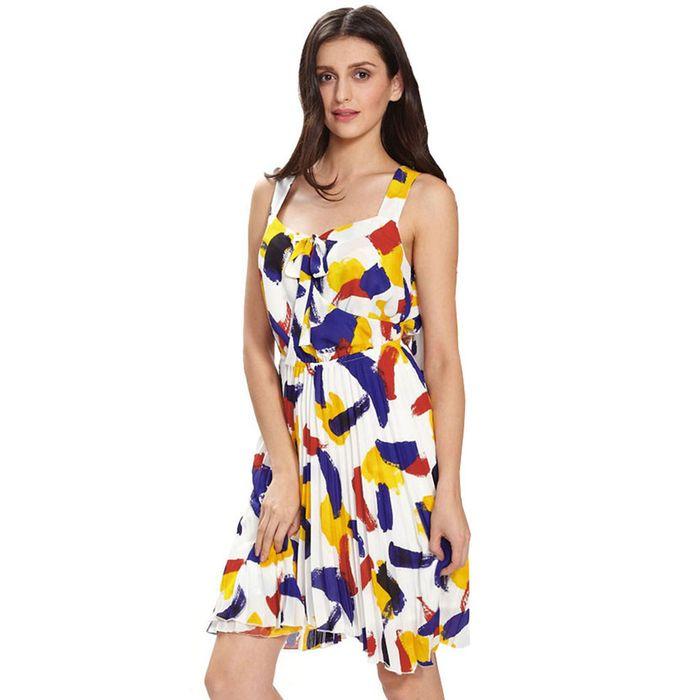 modrian high/low φόρεμα πλισέ