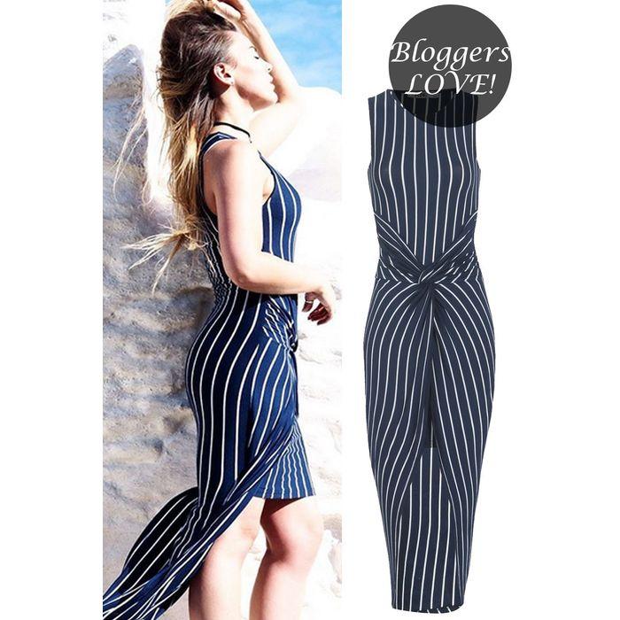 bloggers favorite sexy twist φόρεμα σε μπλε navy
