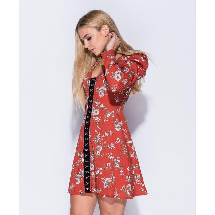 70s inspired mini φόρεμα τουνίκ Tammy rust