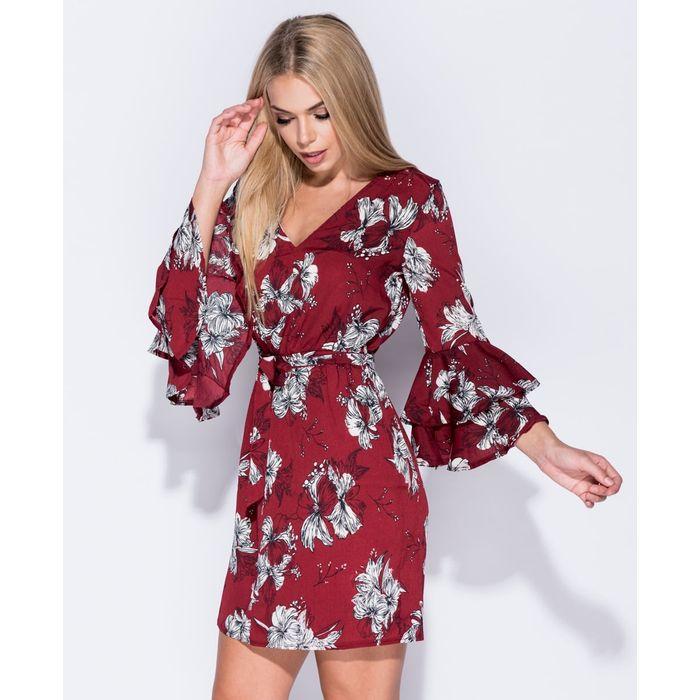70s mini φόρεμα Mandy wine