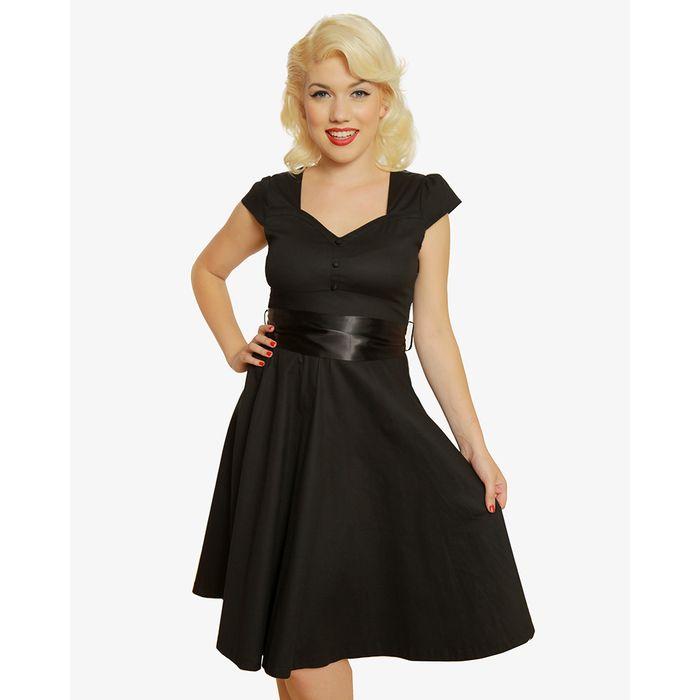 vintage φόρεμα 40s lbd Vera black