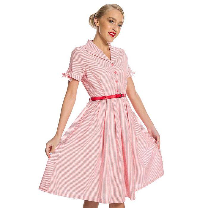 vintage syled country chic ριγέ φόρεμα Claudette
