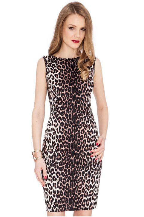 all time classic cotton midi animal print φόρεμα