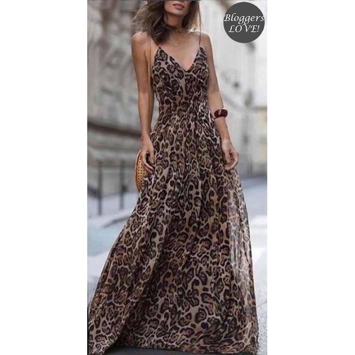 blogger essential leopard φόρεμα Savanna