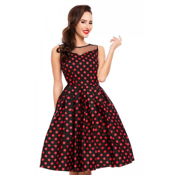 50s vintage pin up πουά φόρεμα Eliz