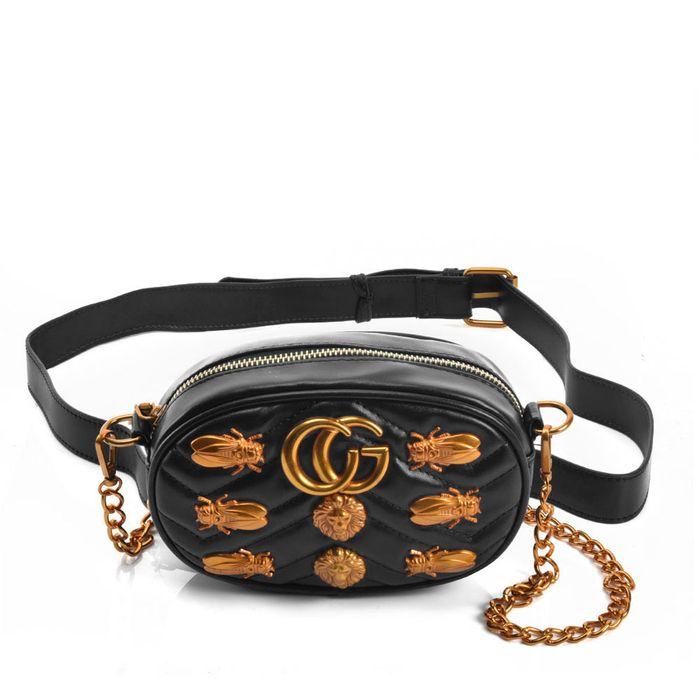 blogger essential τσαντάκι μέσης & ώμου golden bugs