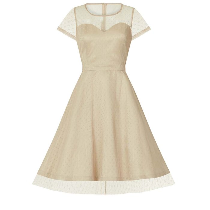 vintage romantic prom φόρεμα Linda almond