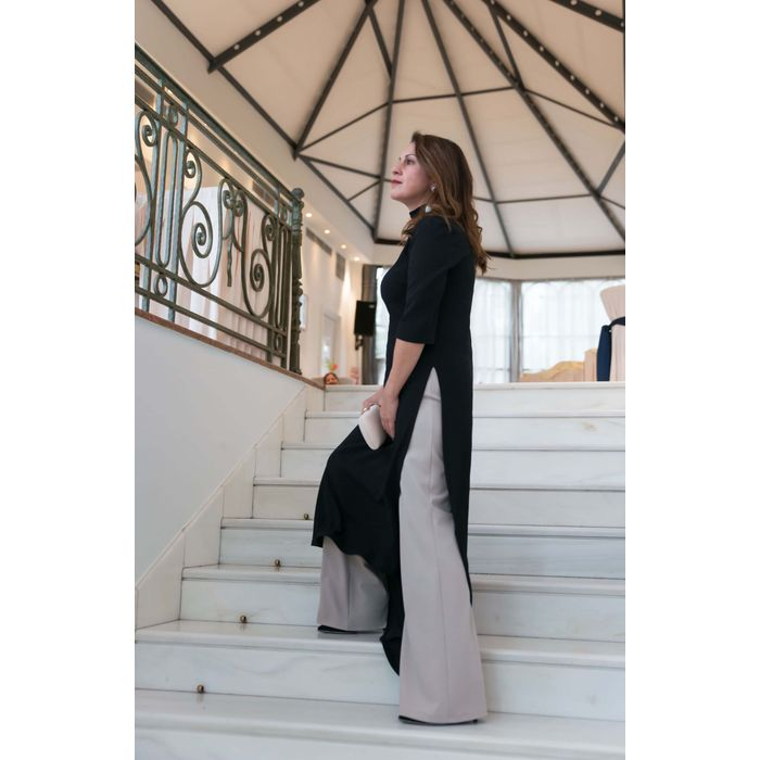 blogger chic & neat ασύμμετρο φόρεμα side slit