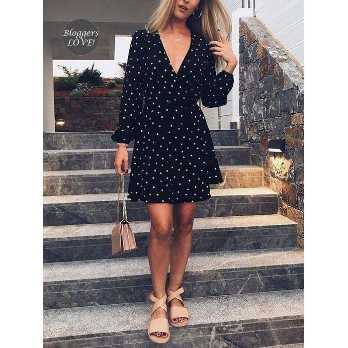 cute blogger πουά φόρεμα τουνίκ Angela