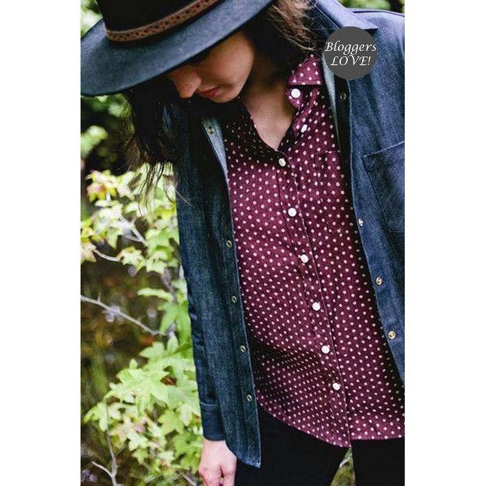 blogger πουά πουκάμισο Dora