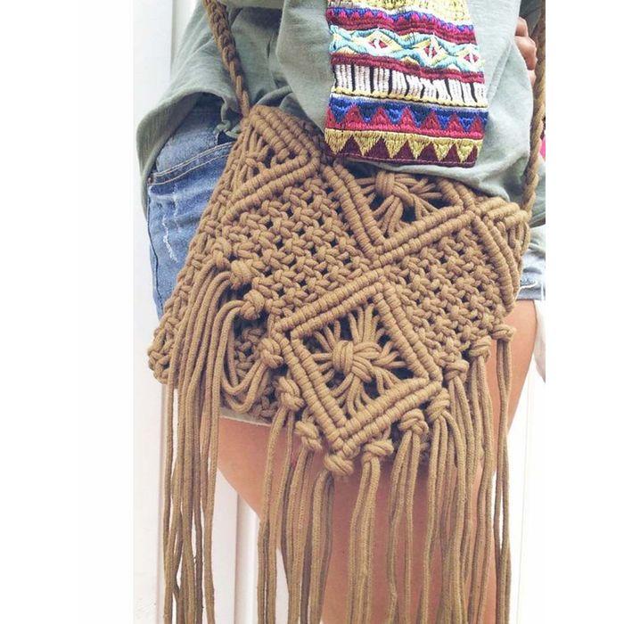 boho essential macrame τσαντάκι Shiloh 2 camel