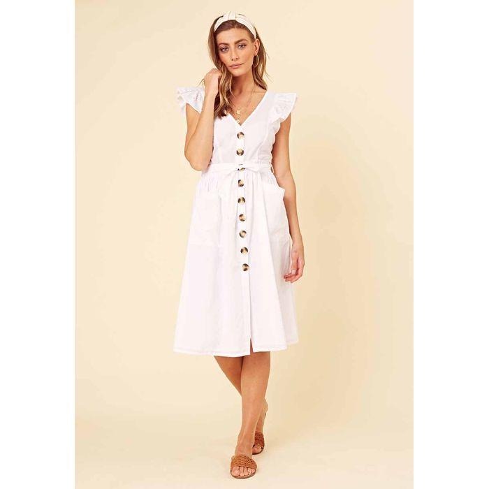 romantic broderie cotton φόρεμα Claris