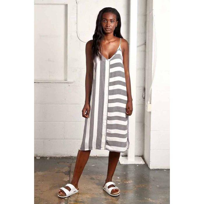 urban loose summer viscose striped φόρεμα