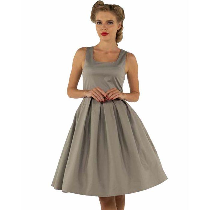 vintage basic φόρεμα Amande grey