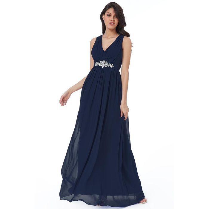 αέρινο princess maxi φόρεμα navy Josephine