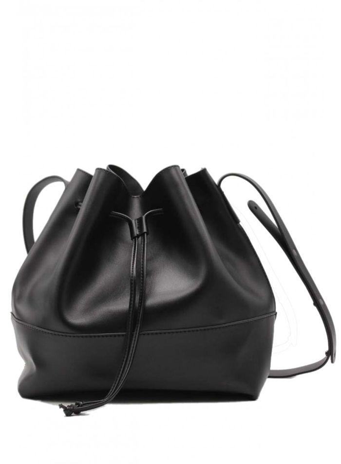 everyday chic τσάντα πουγκί σε μαύρο