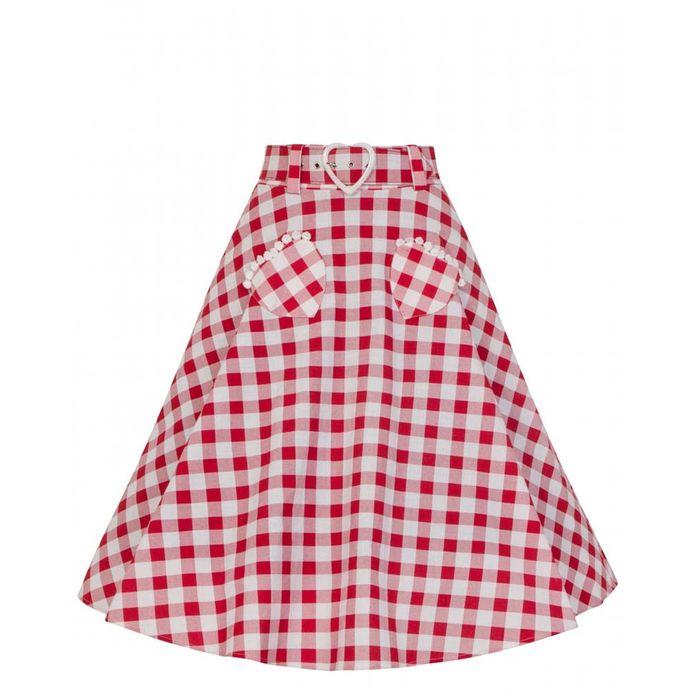 vintage picnic καρώ φούστα Deborah
