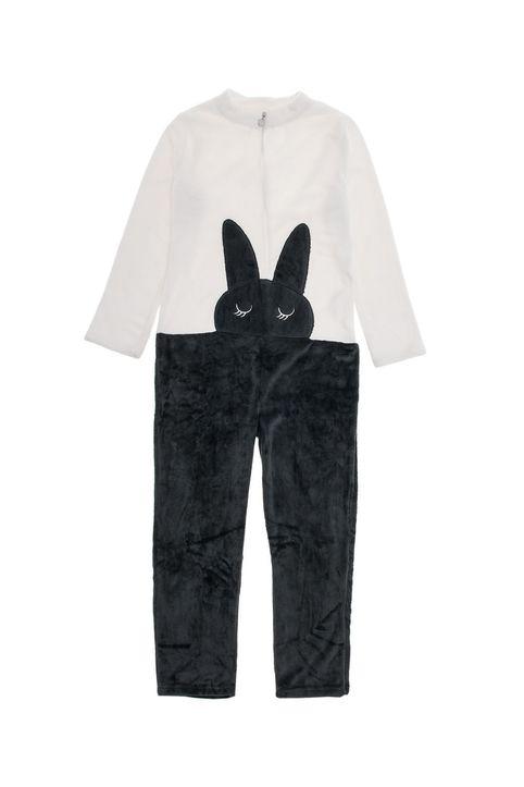 Γυναικεία ολόσωμη πυτζάμα fleece με σχέδιο Infiore