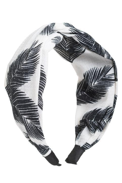 Φοίνικες Άσπρη Φαρδιά Στέκα Μαλλιών Κρεπ Στυλ Τουρμπάνι