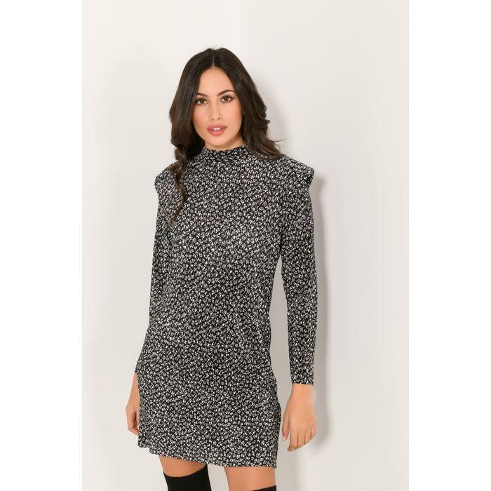 Φλοράλ φόρεμα με λεπτομέρεια βάτας (MULTI)