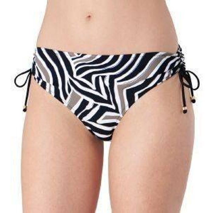 BIKINI BRIEF TRIUMPH PALM ELEGANCE MIDI ΜΑΥΡΟ