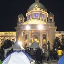 Protest frilensera ispred Doma Narodne skupštine
