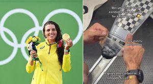 Olimpiadi, la canoista Fox ripara l'imbarcazione con un preservativo e vince la medaglia d'oro: il trucco svelato su TikTok
