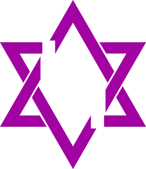 Star of David raelian symbol of infinity