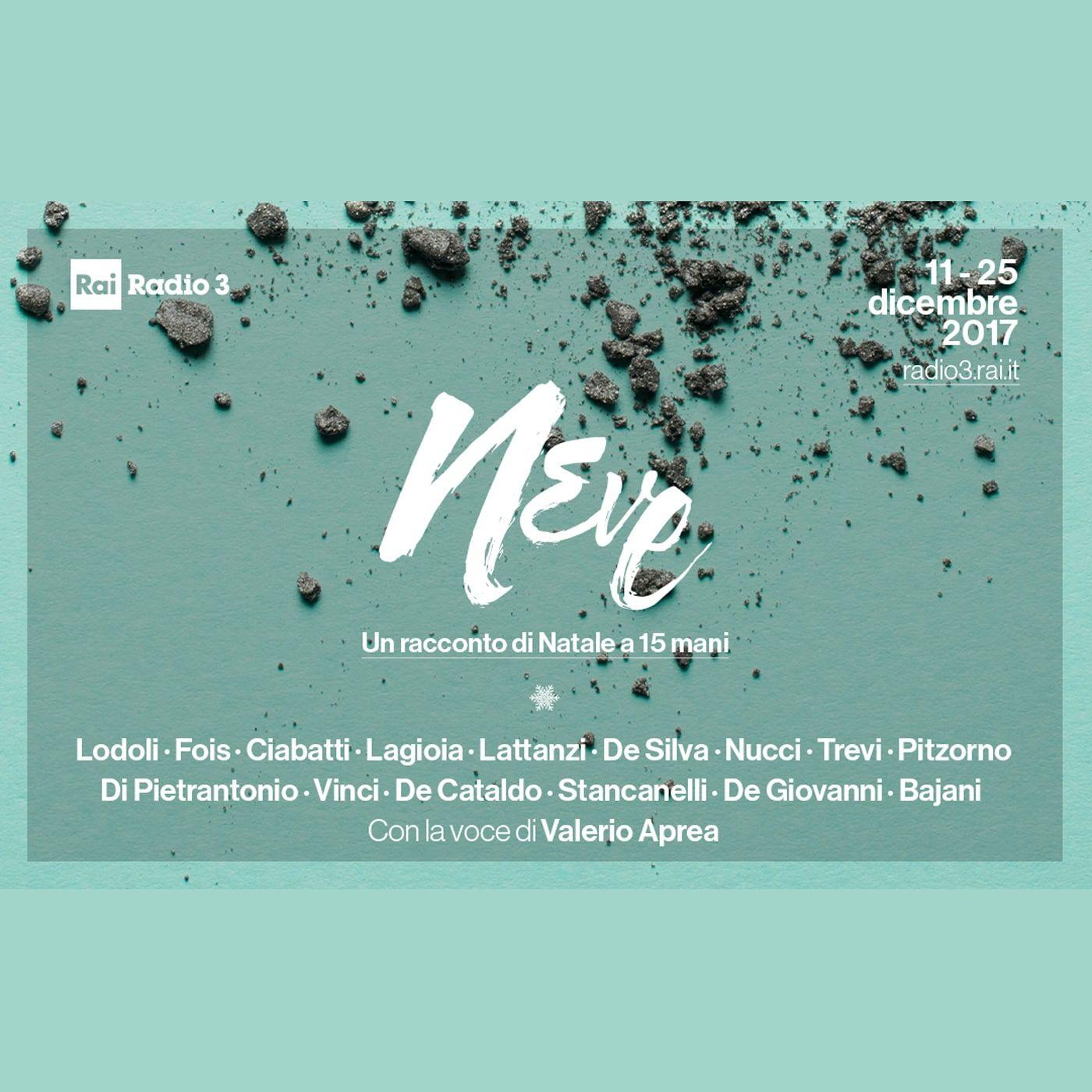 NEVE, UN RACCONTO DI NATALE A 15 MANI RADIO3 del 11/12/2017 - Marco Lodoli 1