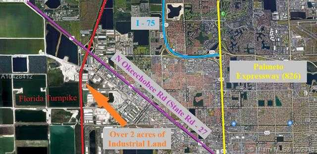 PERFECT INDUSTRIAL LOCATION! Two Adjacent Lots Totaling Over Two Acres Of Industrial Land Next To The Florida Turnpike.