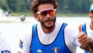 Il canottiere azzurro Rosetti:
