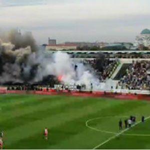 Novi incident: Bakljada navijača Partizana blizu severne tribine