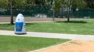 Robot-policajac sa performansama strašila u polju