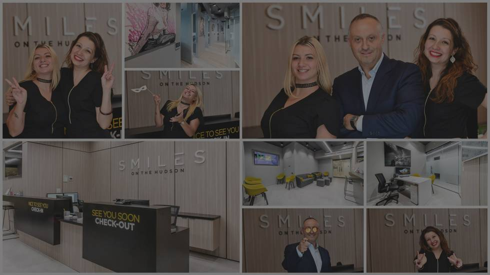 Collage of the team at your Edgewater NJ Dentists office Smiles on the Hudson
