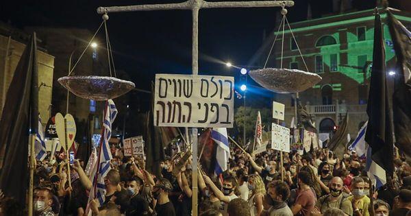 Tausende bei Demo gegen Netanjahu trotz Lockdowns