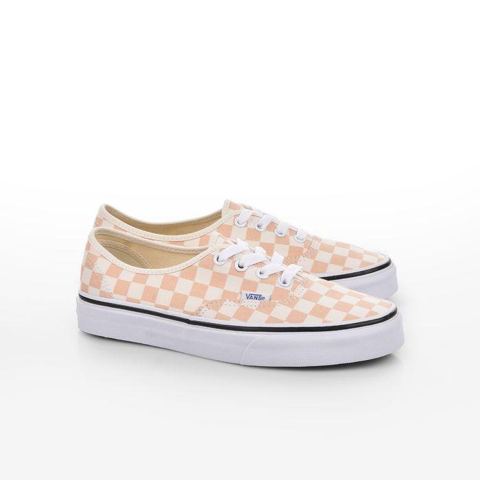 Vans - UA AUTHENTIC - (CHECKERBOARD) APRICOT ICE/CLASSIC WHITE