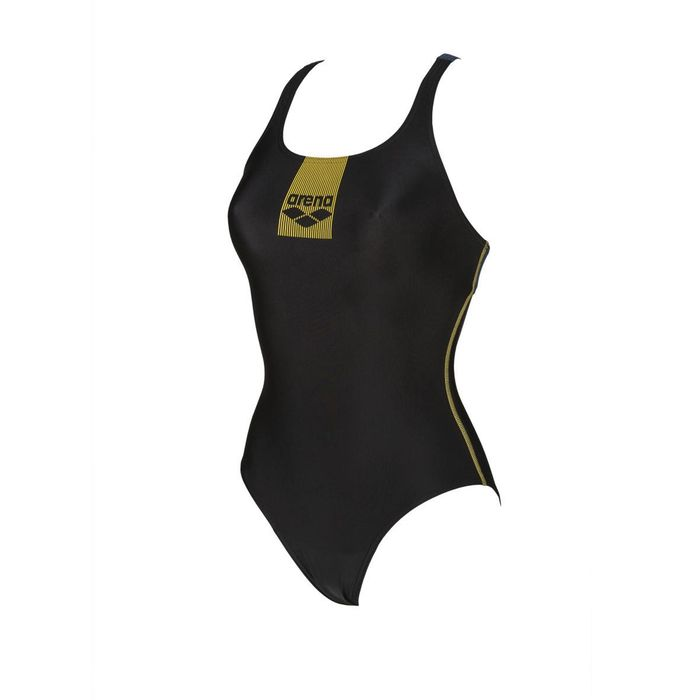 Arena - 002266 W BASICS SWIM PRO BACK ONE P - BLACK ANTHRACITE (505)