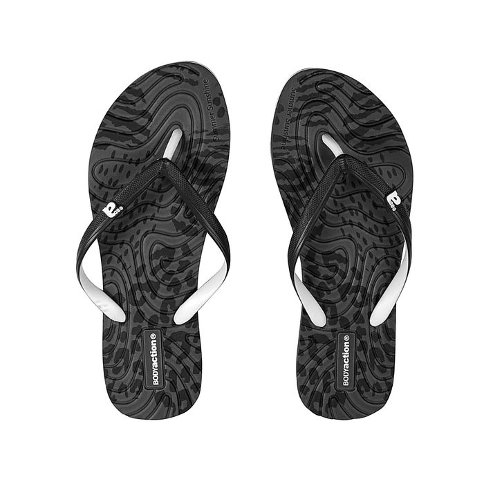 Body Action - WOMEN SUMMER BEACH FLIP FLOPS - ΒLΑCΚ