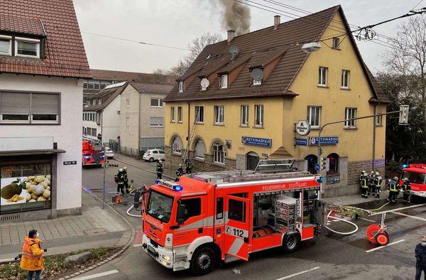 Brand in Feuerbach: Acht Verletzte nach Feuer in Gasstätte