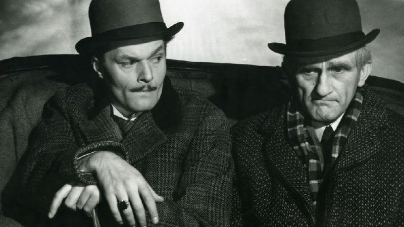 A Dollárpapa című filmben, Rajz Jánossal1956.