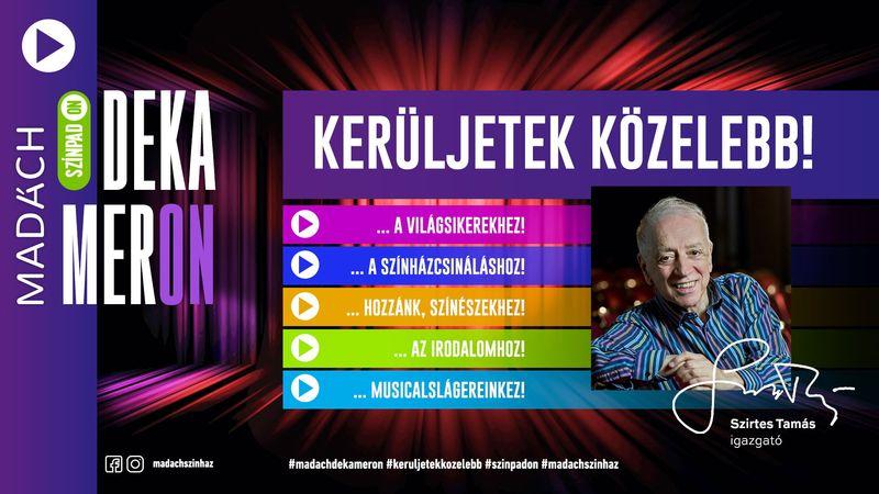 Vírus off – SzínpadON: Egyedülálló vállalkozásba fog a Madách Színház