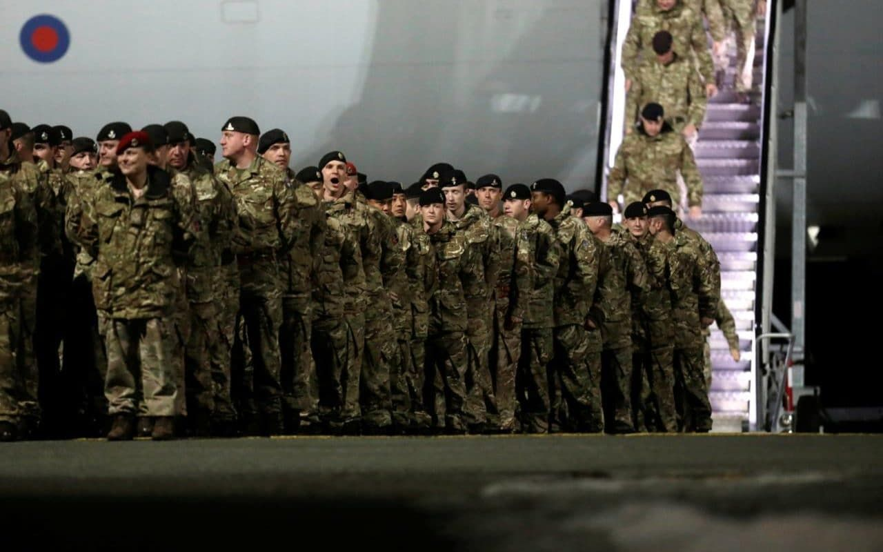 British troops arrive in Estonia to deter Russian aggression in one of biggest deployments to region in decades