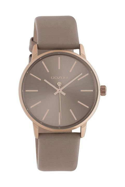 OOZOO Q3 - C10721, Rose Gold case with Brown Leather Strap