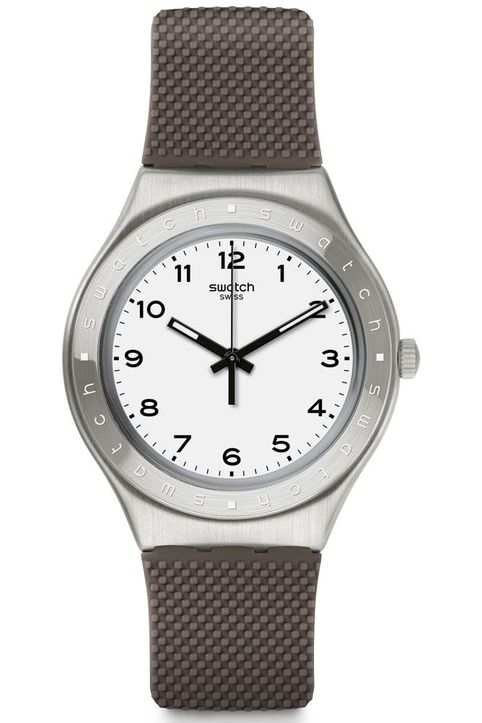 SWATCH Grisou - YGS138 , Silver Case with Grey Rubber Strap