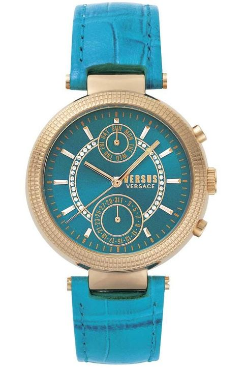 VERSACE Versus Star Ferry - S79050017, Rose Gold case with Light Blue Leather Strap