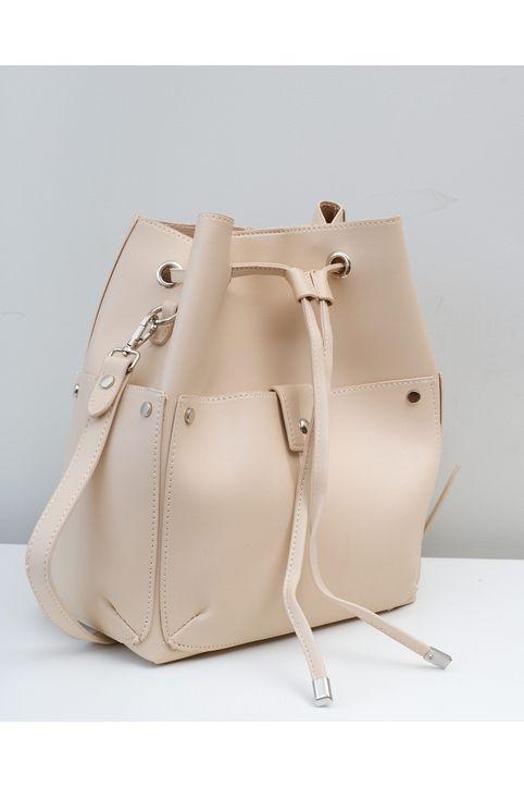 Χιαστί τσάντα πουγκί - Μπεζ