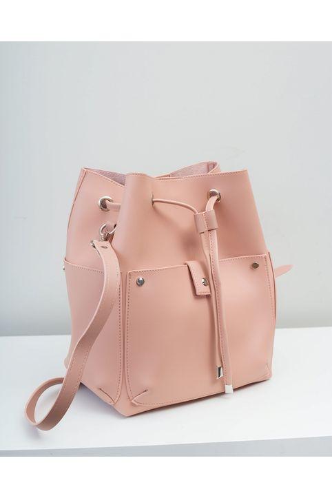 Χιαστί τσάντα πουγκί - Ροζ