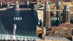 Il più grande bacino artificiale degli Usa ai minimi storici a causa della siccità