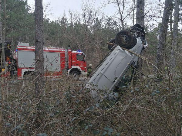 Wiener Neustadt: Auto überschlug sich bei Unfall