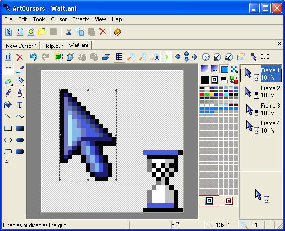 ArtCursors | תוכנה חמודה ליצירת סמני עכבר באיקונים יפים!!!
